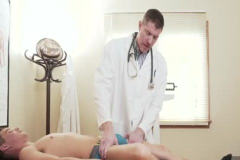 small Size guy's nasty aperture poked By biggest jock Doctor During Exam