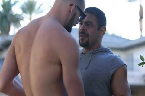 lovely Hunks Johnny And Draven pound In Sunny Patio